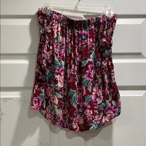 American Eagle Off Shoulder Floral Tube Top M